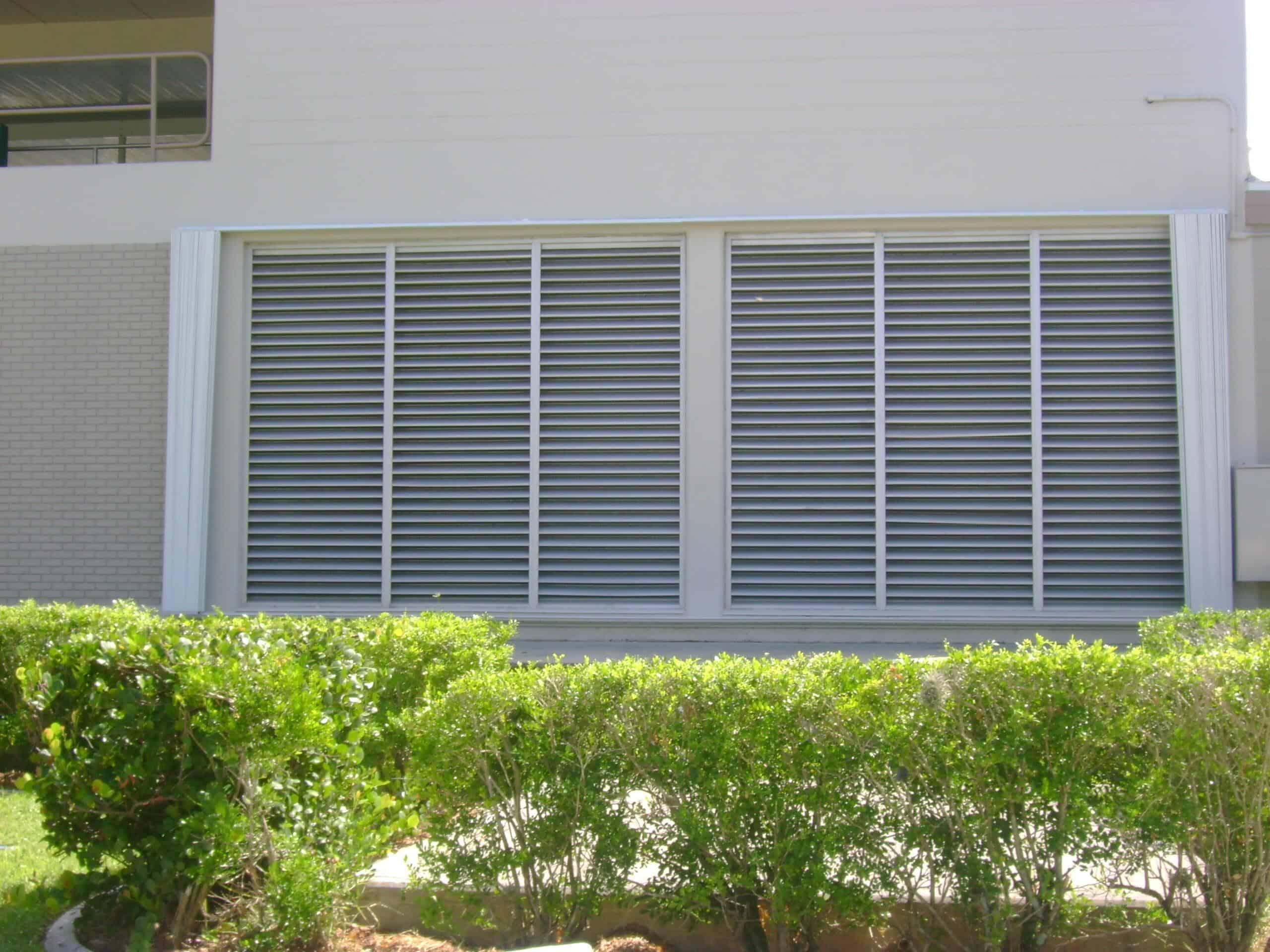 open accordion storm shutters