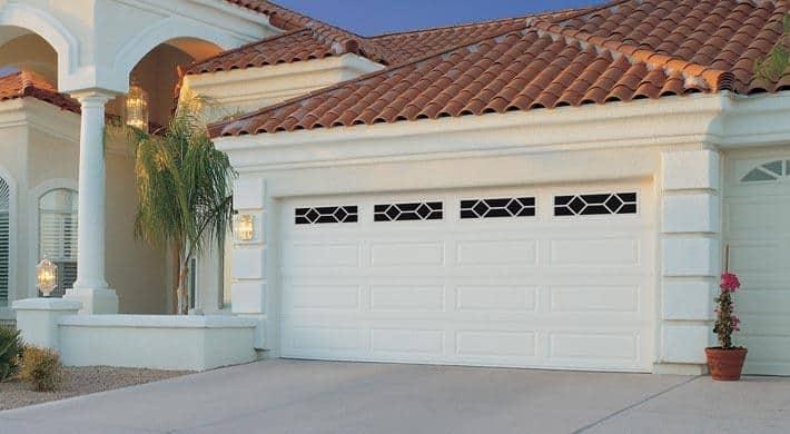 white Hurricane Proof Garage Doors