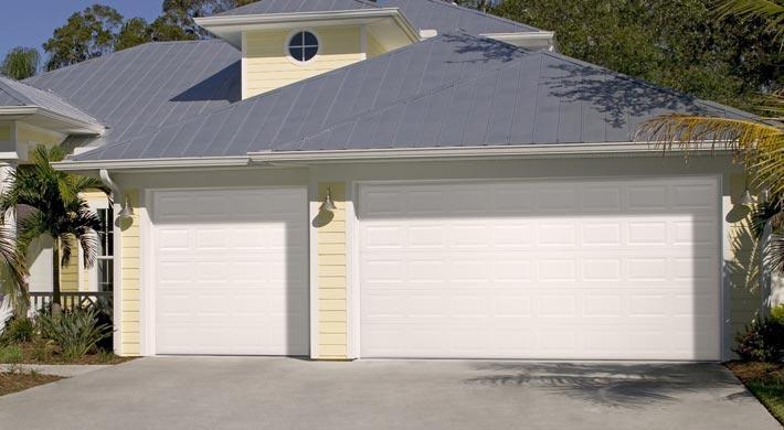 White impact garage doors