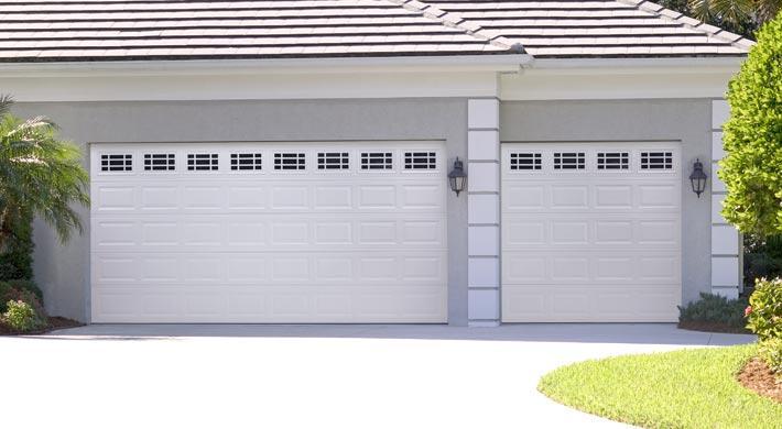 Eurex Hurricane Garage Doors on grey house