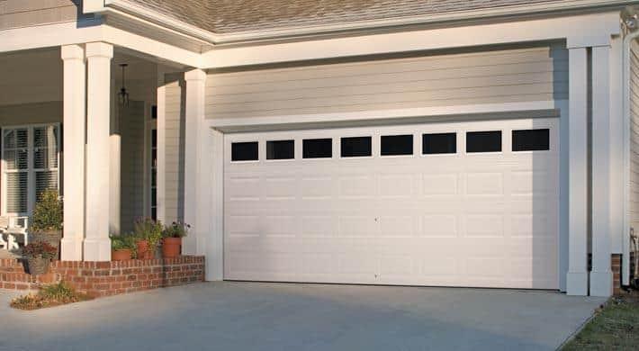 Eurex white doors on a garage