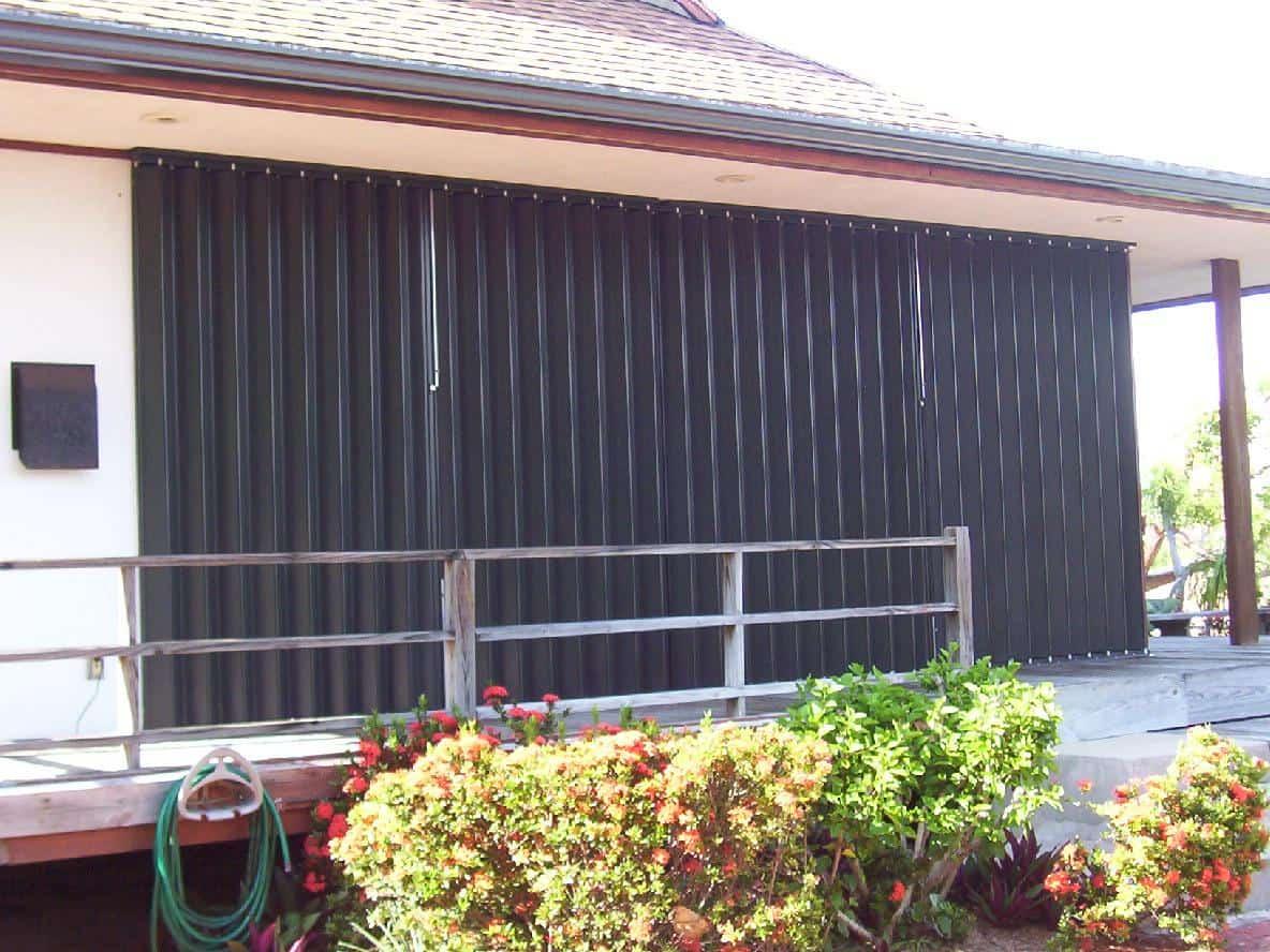 accordion hurricane shutters installation