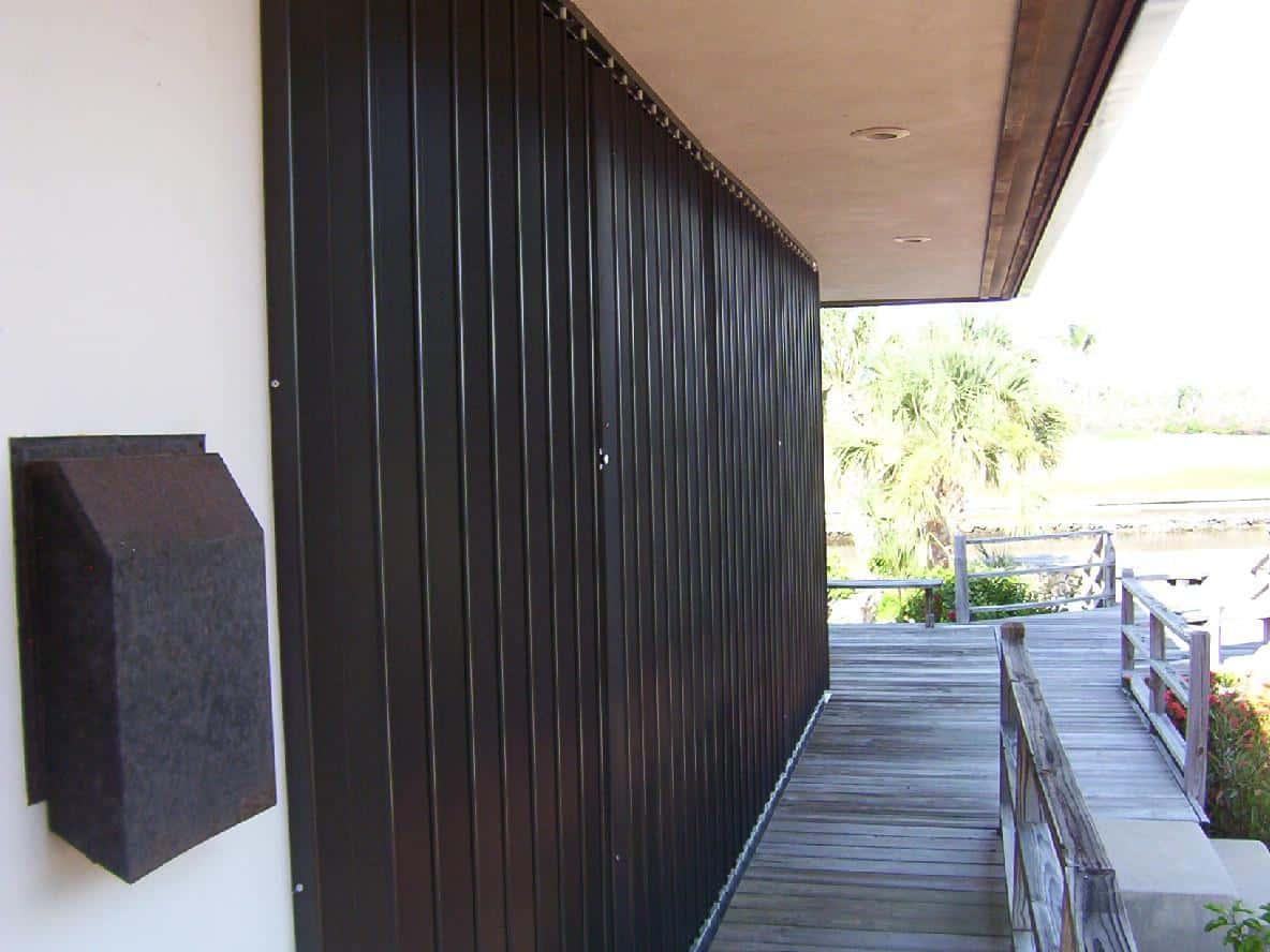 brown hurricane accordion shutters