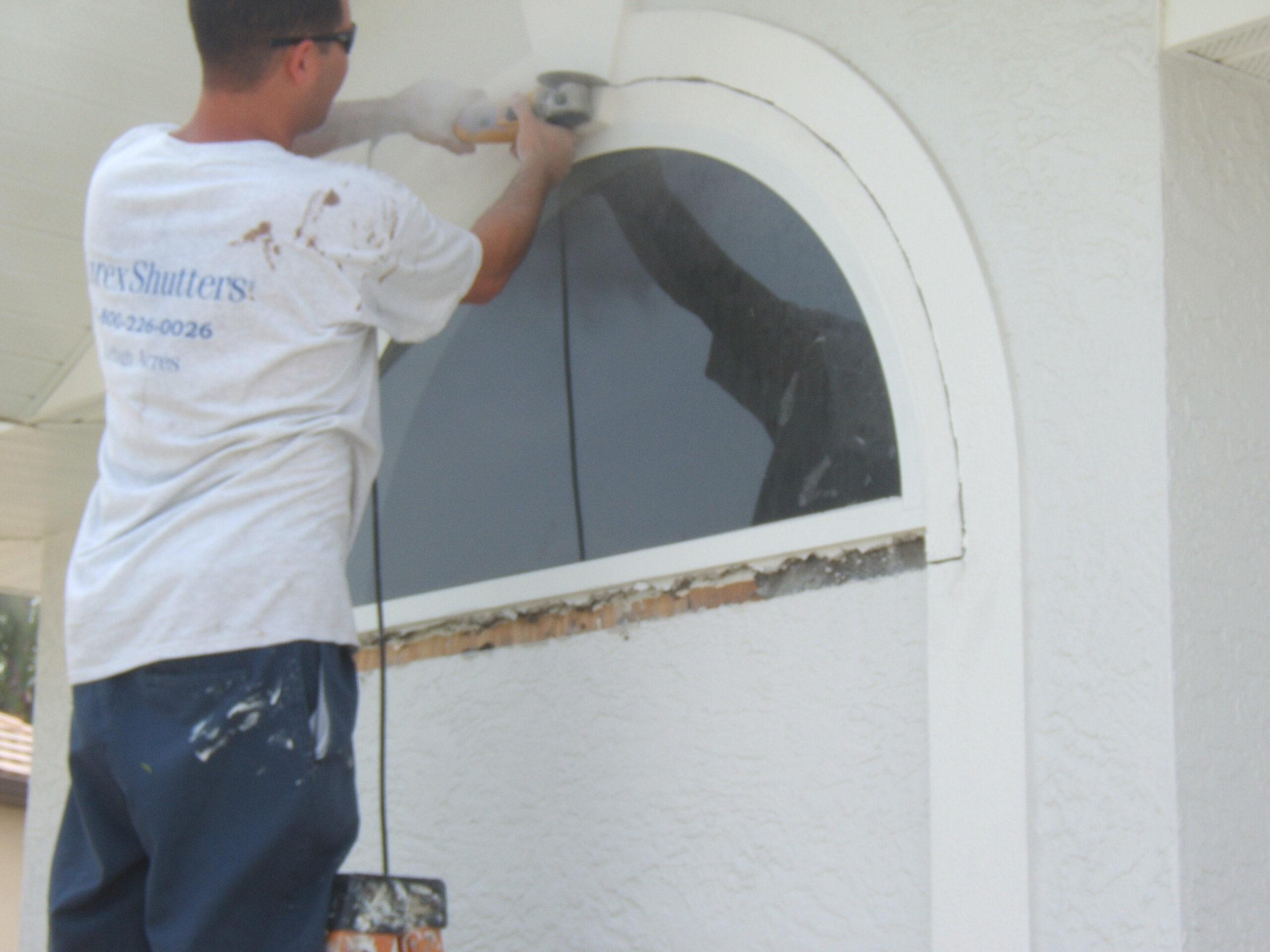 glass window removal from home