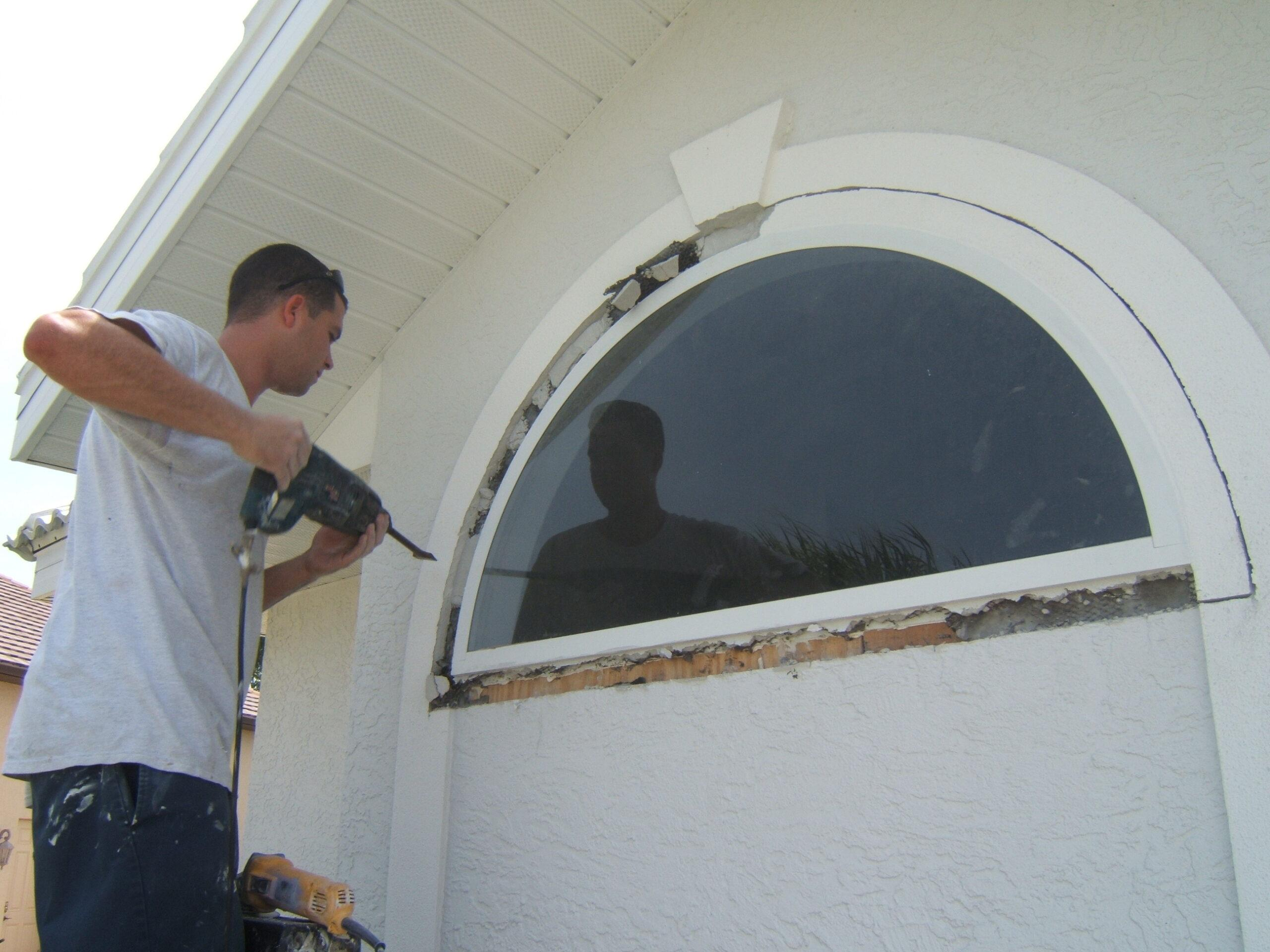 old glass window removal