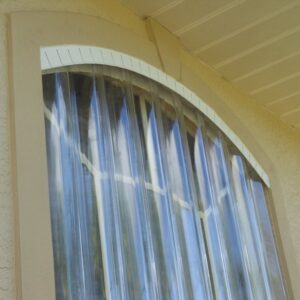 close up of clear hurricane shutters 2