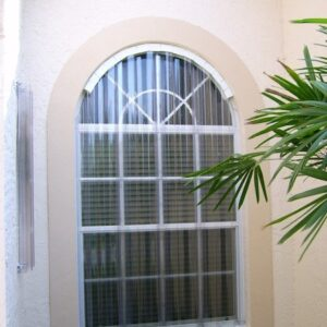 clear panels protecting window