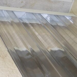 close up of clear window shutters