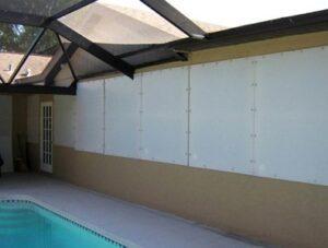 hurricane fabric protects windows