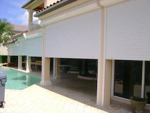 roll down shutters near patio