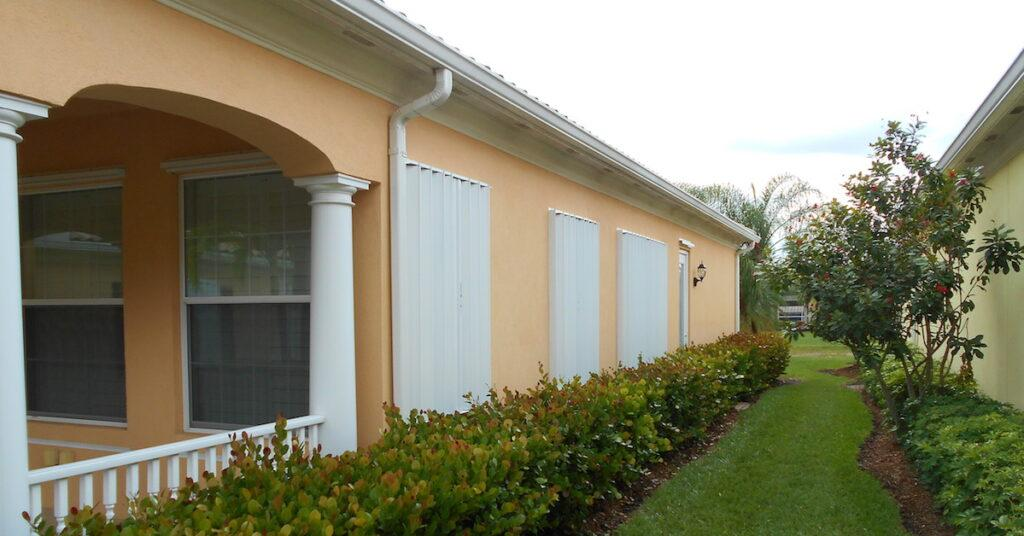 accordion shutters on a house southwest florida