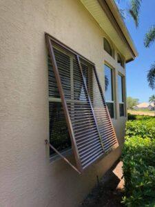 bahama shutters on a home in southwest florida