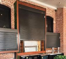 roll down security shutters at a fort myers bar