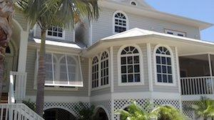 bahama shutters on house in fort myers beach