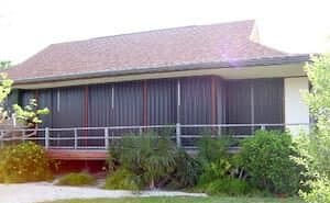 house with hurricane shutters