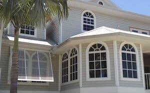 fort myers home with bahama storm shutters