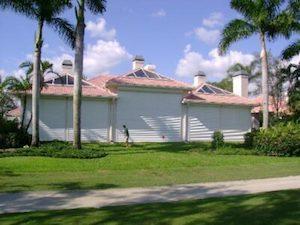 hurricane shutters on home