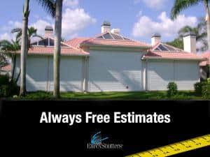 always free estimates hurricane shutters