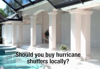 hurricane shutters on home in florida